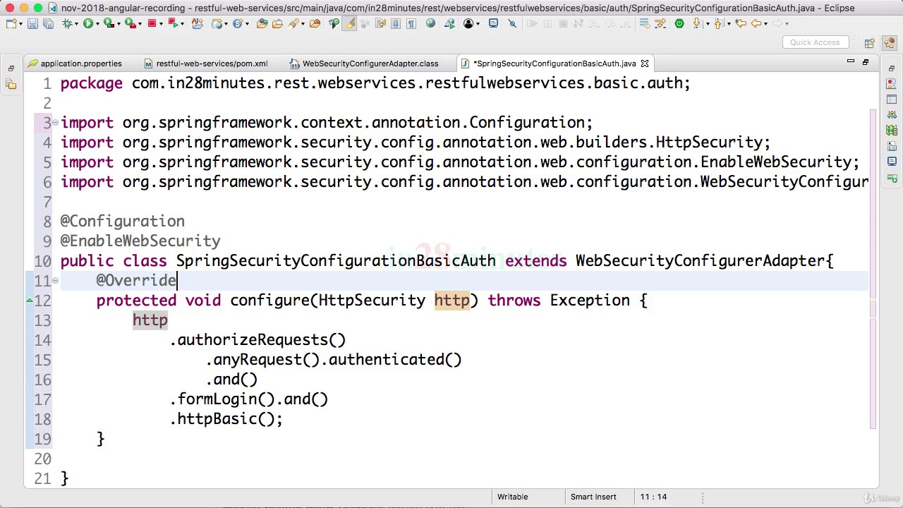 076 Step 75 Configure Spring Security to disable CSRF and enable OPTION  Requests