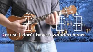 Muss i Denn, Wooden Heart, ukulele chords, lyrics in Eb, 'Ofa i Tonga
