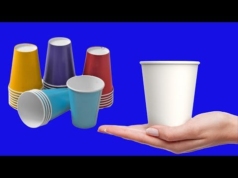 DIY Flower Vase From disposable paper Cup | Waste Material Reuse Idea | Best Out of Waste |MY CRAFTS