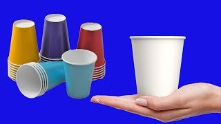 Gambar cover DIY Flower Vase From disposable paper Cup | Waste Material Reuse Idea | Best Out of Waste |MY CRAFTS