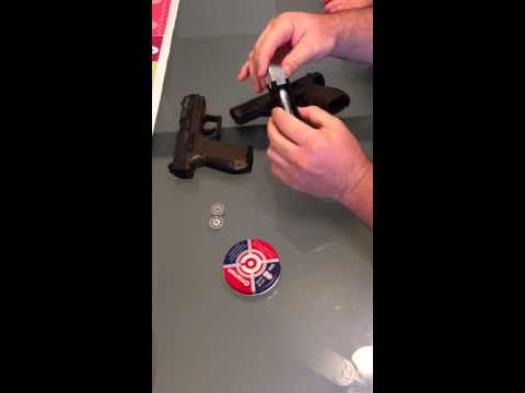Walther cp99 co2 powered BB gun loading of co2 and bb's