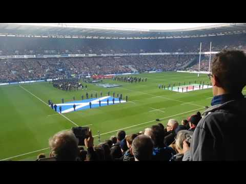 Flower of Scotland 6 Nations 2017 Murrayfield Scotland v Wales 25th February 2017