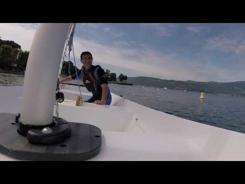 Sailing self-built sailboat Calypso (Argie 10)