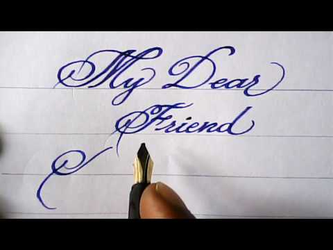 Fountain pen calligraphy | my friend's name | mazic writer
