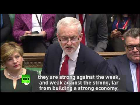 """Corbyn: """"Tories are strong against the weak"""""""