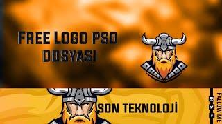 Free Gaming Logo + Banner Template Photoshop Cs6 | Logo Psd Dosyası Ücretsiz