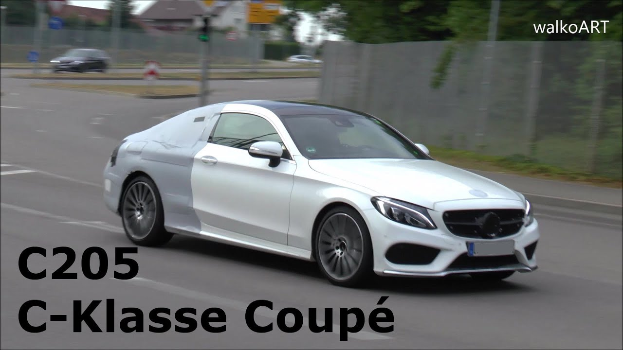 new mercedes c class coupe 2016 amg line prototype mercedes c klasse coup c205 erlk nig spy. Black Bedroom Furniture Sets. Home Design Ideas