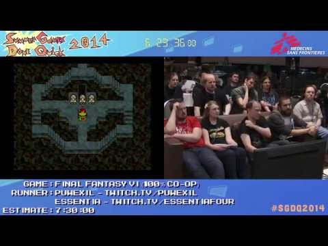 SGDQ 2014 - Final Fantasy VI Speedrun (Glitchless 100%)