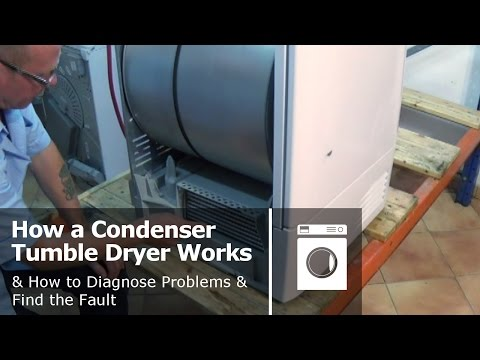 How a condenser tumble dryer works & How to diagnose problems and find the fault