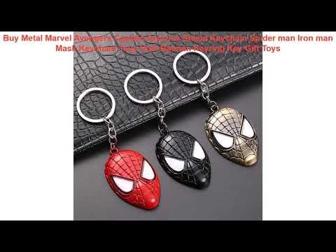 Buy Metal Marvel Avengers Captain America Shield Keychain Spider man I