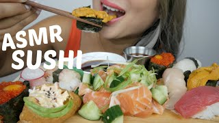 ASMR SUSHI *NO TALKING RELAXING EATING SOUNDS | N.E Let's Eat