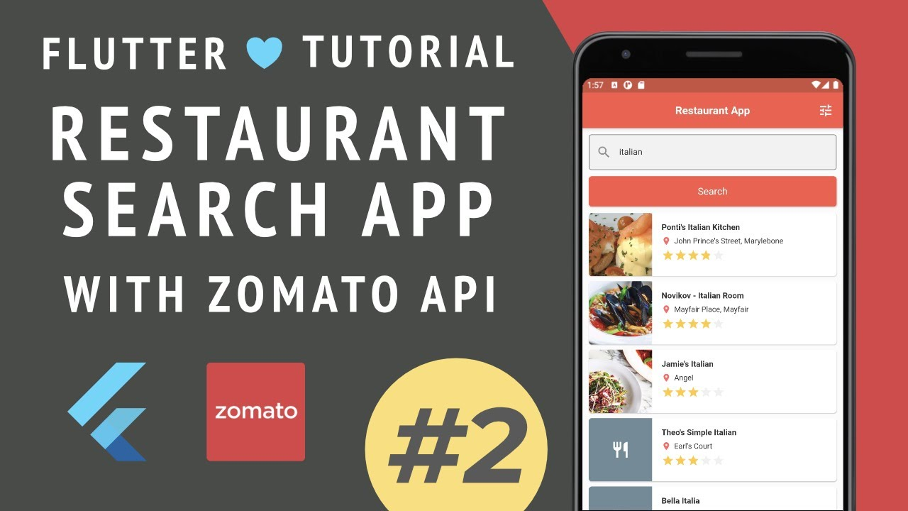 Restaurant Search App Tutorial with Zomato API and Flutter (Part 2)