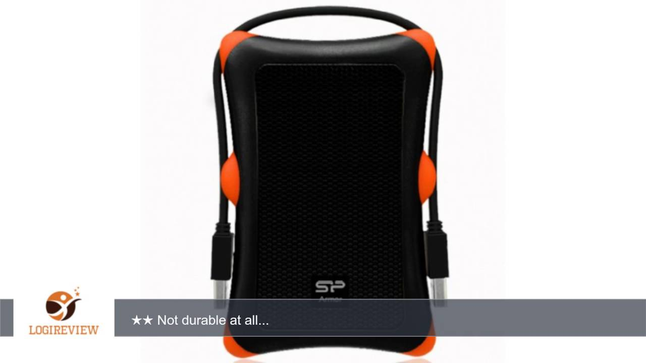 Silicon Power 1TB Rugged Armor A30 Shockproof Standard 2.5-Inch USB 3.0