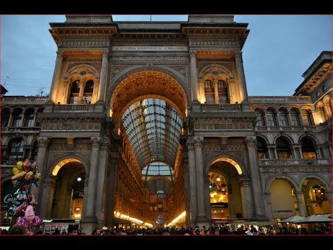 Visiting Galleria Vittorio Emanuele II, Shopping Mall in  Piazza del Duomo, Milano, Italy
