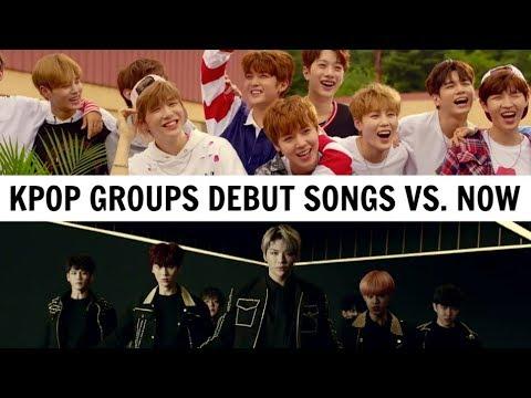 KPOP DEBUT SONGS VS. NOW | 20 KPOP Groups #3