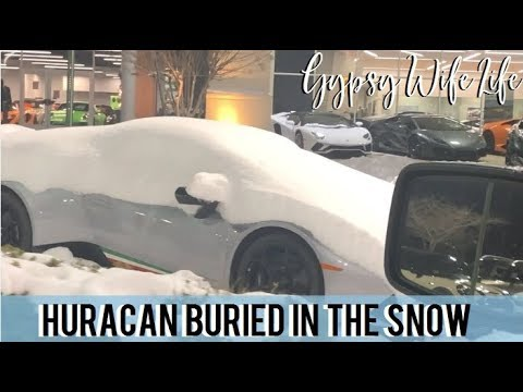 DAY IN THE LIFE OF A GYPSY HUSBAND & WIFE   WE FOUND A LAMBORGHINI BURIED IN THE SNOW!