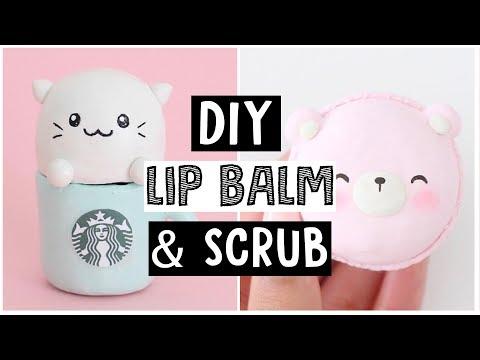 DIY LIP BALM AND SCRUB - Simple & Easy Recipes!