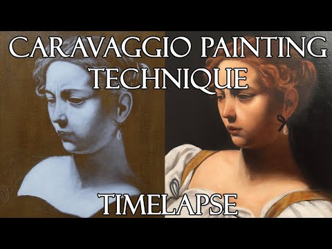 Oil Painting Caravaggio Technique - Timelapse