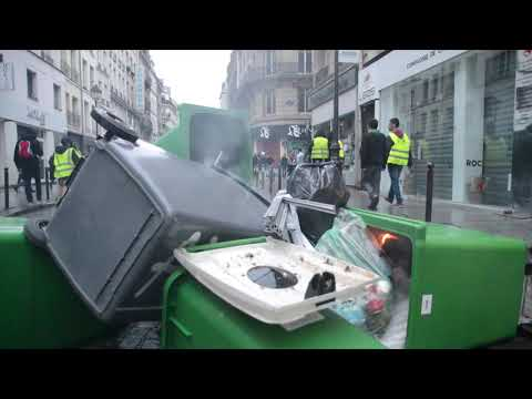 Riots in Paris as Protests Sweep France