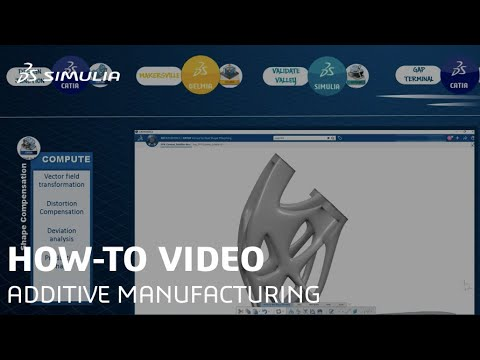 SIMULIA How-to tutorial for 3DEXPERIENCE: Additive Manufacturing Simulation|Print to Perform(Teaser)