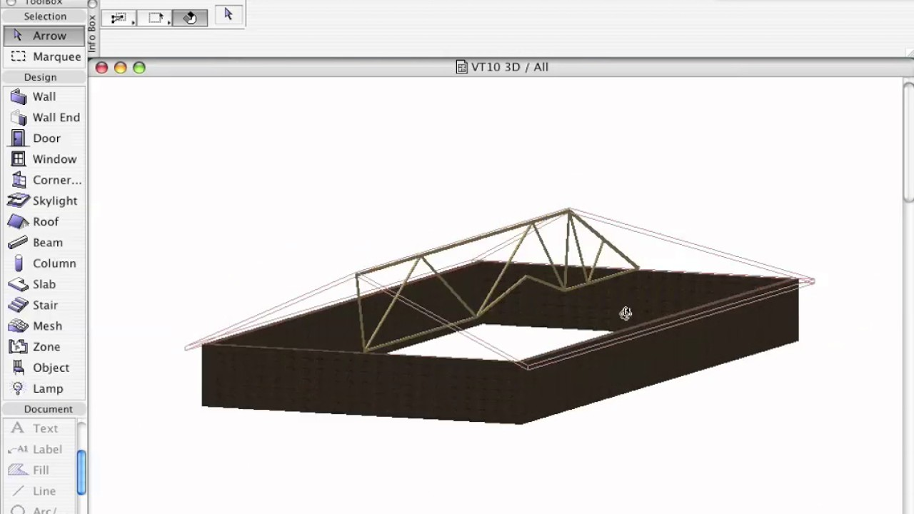 how to make a round roof archicad