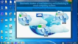 Stochastic Models of Load Balancing and Scheduling in Cloud Computing Clusters