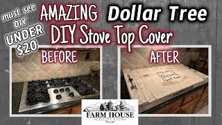AMAZING MUST SEE Dollar Tree STOVE TOP COVER DIY for UNDER $20