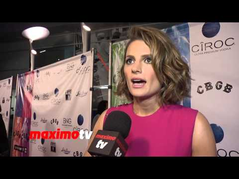 Stana Katic Interview CBGB West Coast Premiere Arrivals - Castle Actress