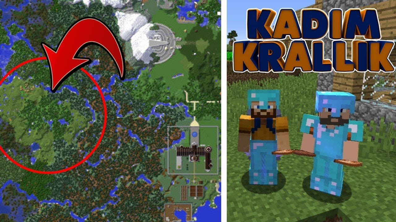 Kadimcraft 1   MERKEZE EVİMİZİ YAPALIM!   Bölüm 1