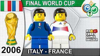 World Cup Final 2006 Italy vs France 5 3 1 1 All Goals Highlights Lego Football Italia Francia