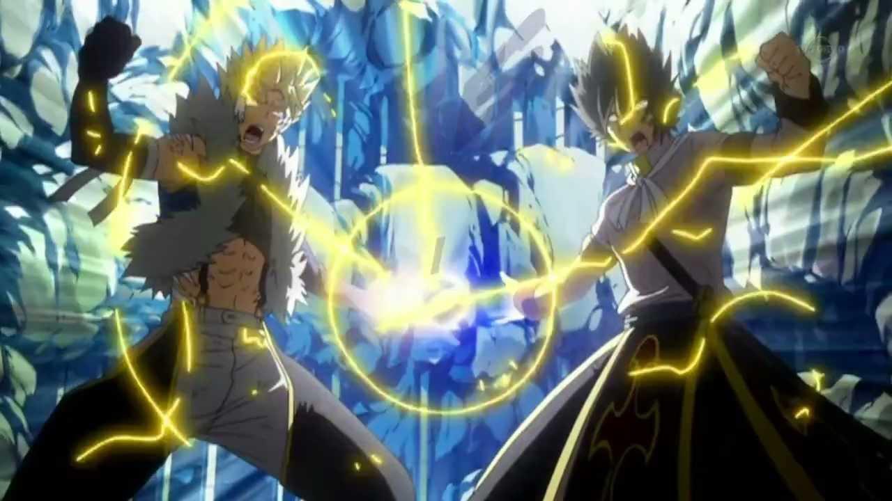 Rog Animated Wallpaper Fairy Tail Natsu Vs Sting Amp Rogue Final Attack Hd
