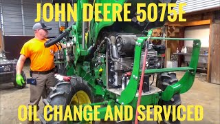 John Deere 5075E tractor- oil change and serviced