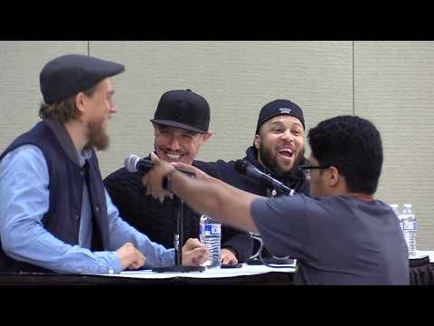 Charlie Hunnam and Theo Rossi from 'Sons of Anarchy' at Motor City Comic Con