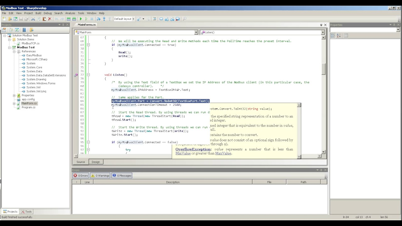 Modbus TCP on C# with a Codesys controller by Sandro Quintero