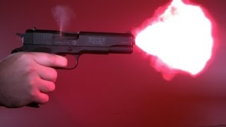 Munitionstest COLT 1911 9mm P.A.K. Partizan, Walther, GECO Flash Stopblitz in Zeitlupe Slow motion