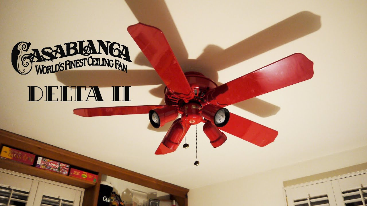 Red Ceiling Fan Mail Cabinet