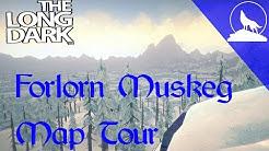 The Long Dark- Forlorn Muskeg Map Guide
