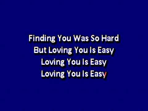 Union J   Loving You Is Easy Karaoke lyrics
