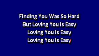 Union J   Loving You Is Easy Karaoke lyrics