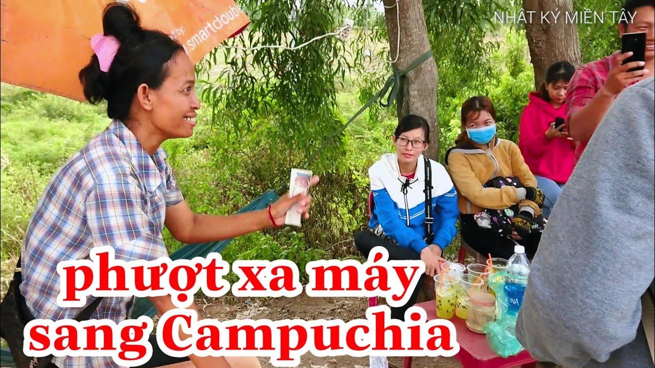 cách Phượt Campuchia bằng xe máy | uống nước mía tính tiền đau đầu | Cambodia travell