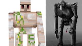 The difference between Minecraft mob and Minecraft mobs in real life