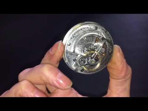 U0169 Vintage 1910 Hamilton 924 Model 1 18s 17j Pocket Watch Illinois NS Case