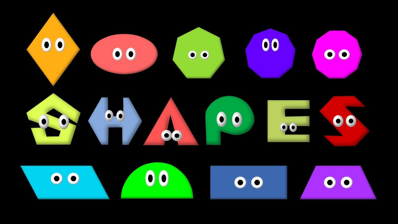 shapes - learn 2d geometric shapes - the kids' picture show (fun