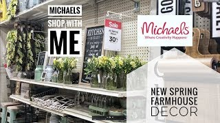 MICHAELS 2019 SPRING FARMHOUSE DECOR-SHOPWITH ME