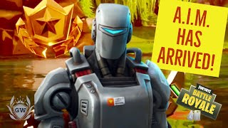 UNLOCKING WEEK 7 HUNTING PARTY A.I.M. SKIN & E.L.I.M. BACK BLING! Fortnite Battle Royale! GAMEPLAY!