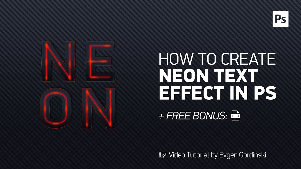 Neon text effect free psd photoshop tutorial youtube neon text effect free psd photoshop tutorial baditri Image collections