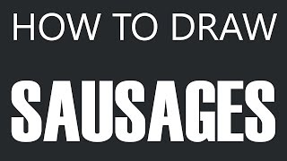 How To Draw Sausage - Links Sausage Drawing (Link Sausages)