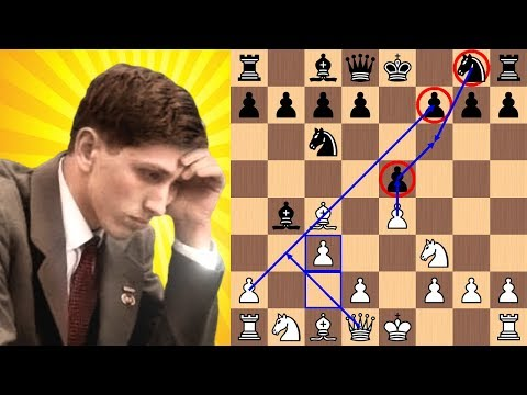 Bobby Fischer blasts Reuben Fine in 17 moves with the Evan's Gambit | 1963