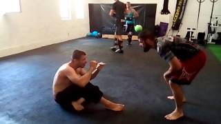 Bjj Drill Cartwheel Pass Guard to Triangle with Alexander Neufang by Abel SImon