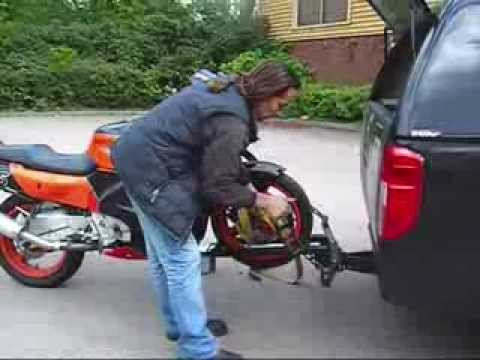 Up Dated Motorcycle Loading Bike Carrier Wmv Youtube